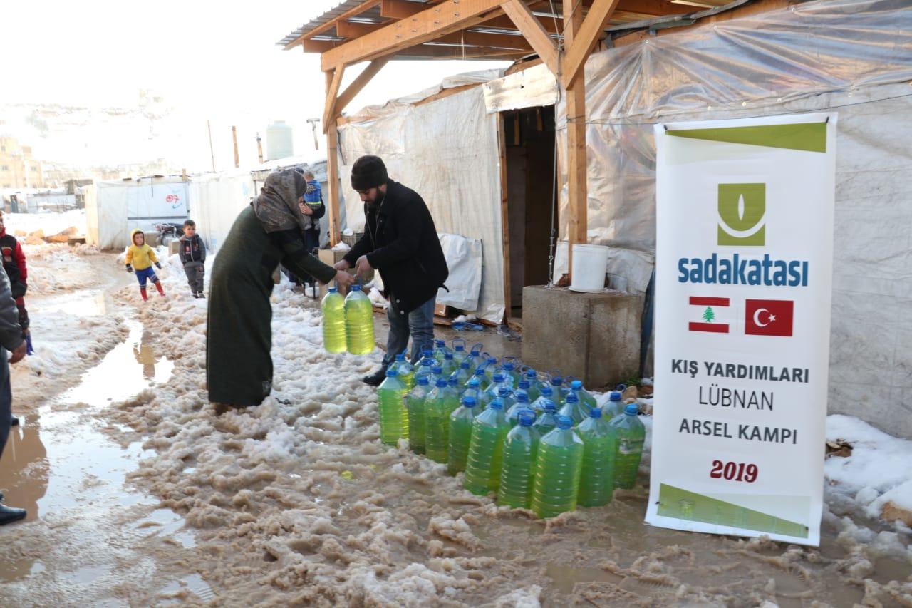 Arsel Kampı'na kış yardımı