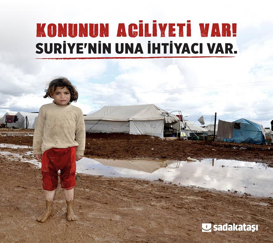 Suriye için acil un çağrısı