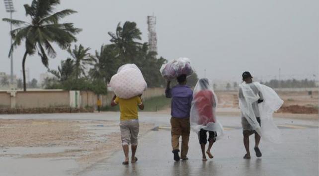 Yemen'de kasırga ve sel felaketi